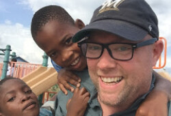 darrin and kids haiti